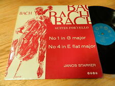JANOS STARKER -BACH SUITES FOR SOLO CELLO #1&4 1963 Uk LP- SAGA XID 5167-Ex+/Vg+