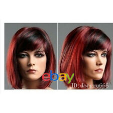 NEW - Fashion lady's Vogue short red mixed black color wig +free wig cap A40