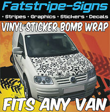 MERCEDES VITO SPRINTER VINYL STICKER BOMB BONNET WRAP GRAPHICS VAN MX MOTOCROSS