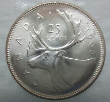 1965 CANADA 25 CENTS BRILLIANT UNCIRCULATED SILVER QUARTER