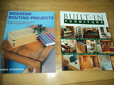 2 Home Improvement Woodworking Books Built-In Furniture Weekend Routing Project