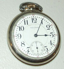 Antique Working 1915 WALTHAM Vanguard 14K Gold 23J Railroad RR Pocket Watch 16s