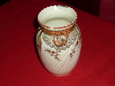 HONITON B & S China Pottery Old Small Vase Oriental Ivory Makers Mark