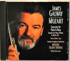 James Galway Mozart Concerto for Flute & Harp Sonatas 299 296 & 376 CD LIKE NEW