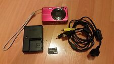 SONY CYBER-SHOT DSC-W170 (PINK) 10.1MP!  w/Charger, AV cables, 4GB Memory Stick
