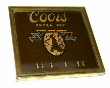 Vintage 1970s Coors Extra Dry Beer Mini Bar Game Carnival Prize Mirror New NOS