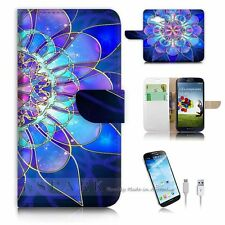 Samsung Galaxy J1 Flip Wallet Case Cover! S8274 Abstract