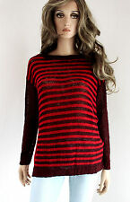 RINASCIMENTO Ladies Knitted Jumper Wool mix S M 36 38 rot burgundy