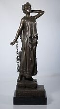 "Emmanuel Villanis (after) ""Captive"" Female Bronze Statue, Beautiful & FINE!"