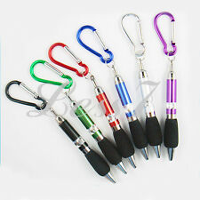 3 Pen with Carabiner snap hook Keyring Keychain outdoor Travel Stationary Nurse