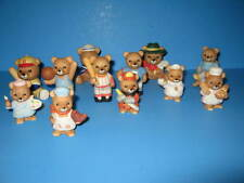 12 Porcelain Homco Bears Painter Fireman Chef Nutical Maid Rocking Chair