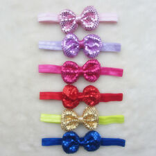 6pcs Kids Baby Girl Headband Toddler Sequin Bowknot Hair Band Bow Accessories