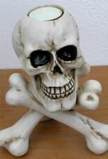 Nemesis Now SKULL & CROSSBONES TEA LIGHT CANDLE HOLDER T-LIGHT GOTH
