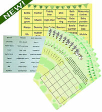 Baby Shower Bingo - Premium Party Game- Neutral Boy/Girl- 20 Players - Lil'Tinka