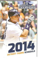 2014 DETROIT TIGERS LITTLE CEASARS PIZZA POCKET SCHEDULE - MIGUEL CABRERA - LQQK