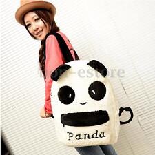 Women Plush Cute Panda Shoulder Backpack Girl School Bookbag Rucksack Travel Bag
