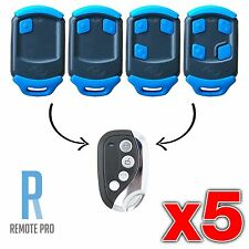 5 x Centsys/Centurion NOVA Blue Gate/Garage Remote Control Replacement
