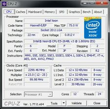 Intel Xeon e5-2648l v3 QS 12c/24t 2,1 - 2,5 GHz 75w S: 2011-3 x 99 server desktop