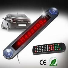 Car 12V RED LED Message Sign Programmable Moving Scrolling Board with remote W