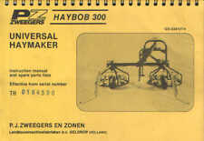 PZ Zweegers Haybob 300 Operators Manual with Parts List