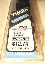 Timex Black Braided Leather Watch Bands 20mm