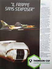 12/1985 PUB THOMSON CSF PDL POD DESIGNATION LASER JAGUAR ARMEE AIR FRENCH AD