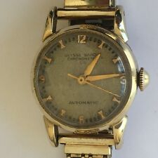 Vintage Ulysse Nardin automatic chronometer  14K yellow gold watch 32 mm GF band