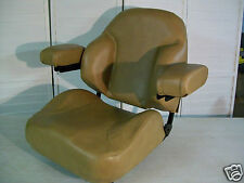 BROWN SEAT WITH ARMRESTS FITS SCAG ZTR,GRASS HOPPER, WALKER,ZERO TURN MOWERS #XA