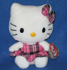TY HELLO KITTY PINK TARTAN BEANIE BABY - MINT with MINT TAGS