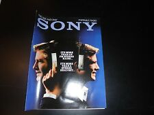 SONY VINTAGE PORTABLE RADIO BROCHURE 1982 MINT