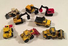 Matchbox Majorette Diecast Lot 8 x Construction Vehicles Digger Bulldozer Roller