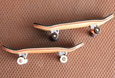 2 Pcs Bearing Wheels Wooden Maple Deck Fingerboard Skateboards 96mm