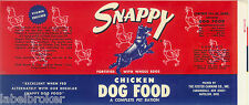 VINTAGE CAN LABEL RARE DOG FOOD 1950S SNAPPY YORKIE OHIO PENNSYLVANIA 3