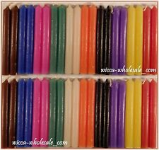 "LOT OF 40 ASST COLOR Chime Spell Candles Mini 4"" Pagan Wicca Ritual FREE SHIP"