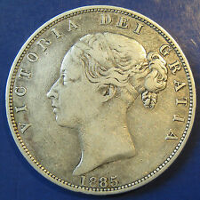 1885 2/6 Victoria silver Halfcrown - not an easy year, but a very decent grade
