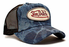 VON van DUTCH MESH TRUCKER CAP [BLUE DENIM] JEANS HUT MÜTZE BASECAP KAPPE BASE