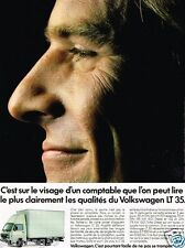 Publicité advertising 1989 Camion Fourgon Utilitaire Volkswagen LT 35 VW