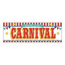 Plastic Carnival Banner 6 ft. x 3 ft.