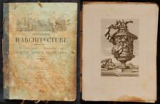 Encyclopédie d'Architecture 1860 (Calliat-Lance) 120 planches / GRAVURES + texte