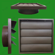 "2x 150mm 6"", Brown Gravity Flap Wall Kitchen Extractor Fan Ventilation Grille"