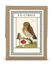 Cavallini & Co. Owl Ex Libris Bookplate Set
