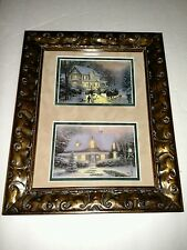 Home for the Holidays and Christmas Eve by Thomas Kinkade Framed & Matted Prints