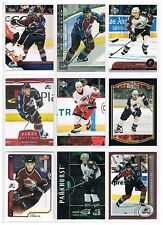 RADIM VRBATA 9 CARD LOT 1 ----AVALANCHE..HURRICANES---ALL DIFFERENT