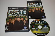 +++ CSI 3 Dimensions of Murder Sony Playstation PS2 Game COMPLETE TESTED
