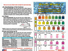 12 x Well Water Test Kits for pH, Alk, Nitrates, Nitrites, Iron & Water Hardness