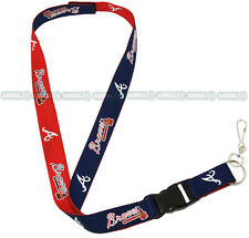 ATLANTA BRAVES 2-IN-1 OFFICIAL MLB LANYARD KEYCHAIN ID HOLDER
