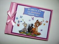 BAMBI prima / 1st Compleanno / Baby Shower GUEST BOOK qualsiasi design