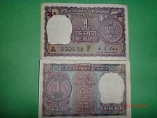 "- INDIA PAPER MONEY - OLD CURRENCY NOTE - RUPEE 1/- ""1973"" -RARE-M.G.KAUL - A-29"