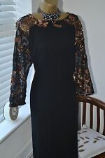 Stunning ⭐️ Little Mistress ⭐️ Black Sequinned Tunic Dress BNWT Size 20 18 Plus