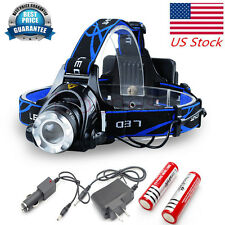 CREE LED Headlamp T6 Rechargeable Headlight ULTRA Bright Camping Lantern 6000LM